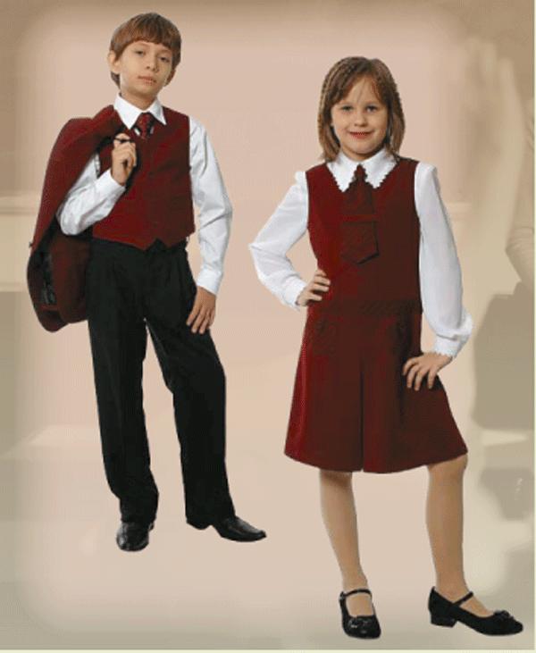 Школьная форма бордового цвета для девочек в спб